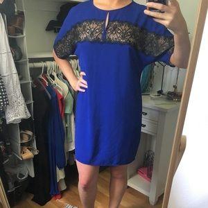 BCBGMaxAzaria Hennrietta Royal Blue Lace Dress
